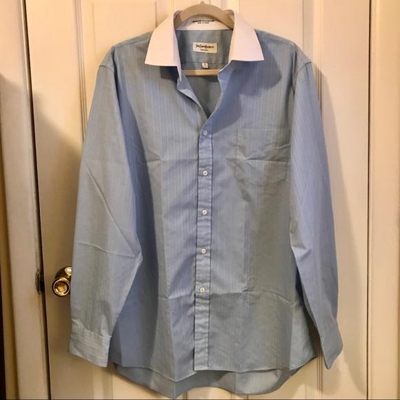 fb8a0e23 Yves Saint Laurent Shirts   Ysl Mens Blue Stripe Shirt   Poshmark